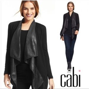 Cabi Owens Draped Waterfall Jacket M EUC